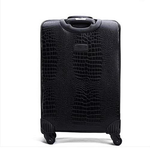 Leather Business Casual Wheels Luggage Image 2