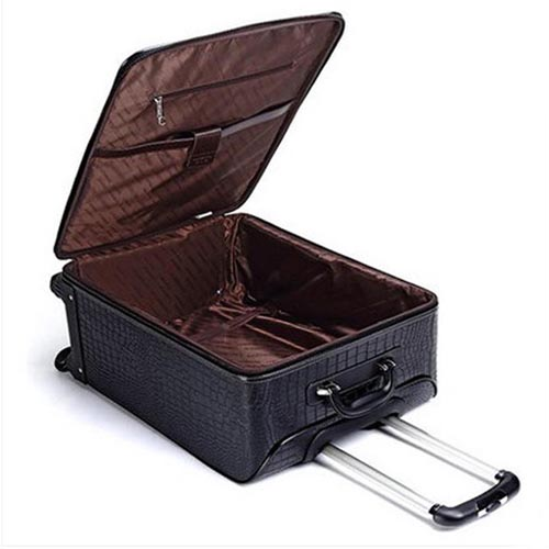 Leather Business Casual Wheels Luggage Image 4