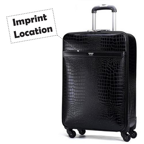 Leather Business Casual Wheels Luggage Imprint Image