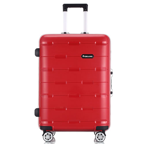 PP Aluminum Trolley Luggage Suitcase