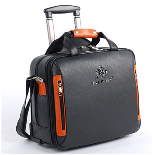 Synthetic Cowhide Commercial Trolley Case
