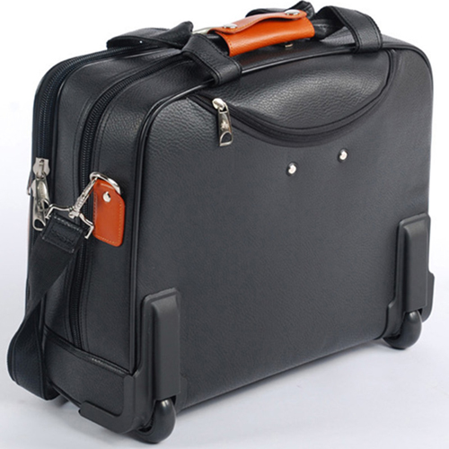 Synthetic Cowhide Commercial Trolley Case Image 1