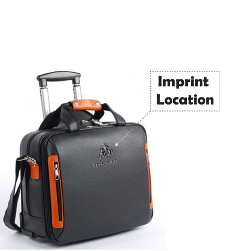Synthetic Cowhide Commercial Trolley Case Imprint Image