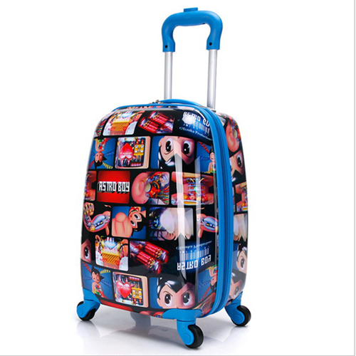 Boy Girl Cat Trolley Suitcase Image 3