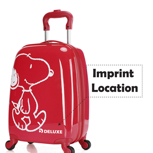 Boy Girl Cat Trolley Suitcase Imprint Image