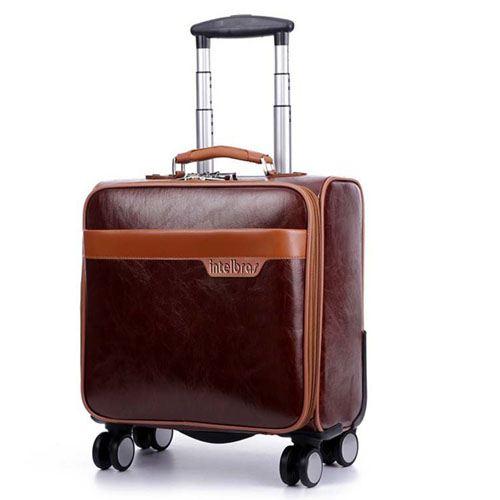 Men 16 Inch Trolley Board Suitcase