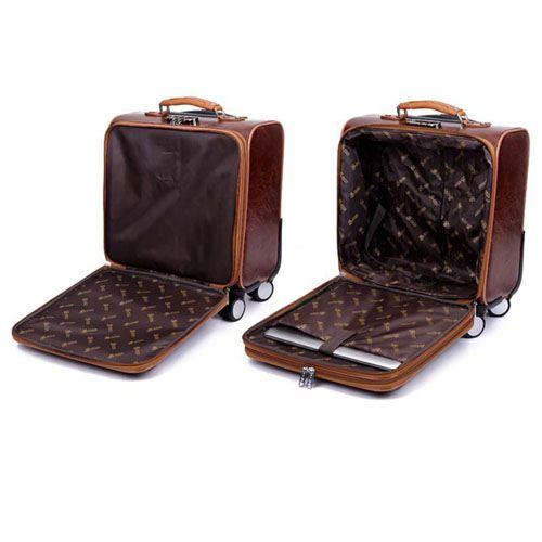 Men 16 Inch Trolley Board Suitcase Image 3