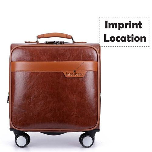 Men 16 Inch Trolley Board Suitcase Imprint Image