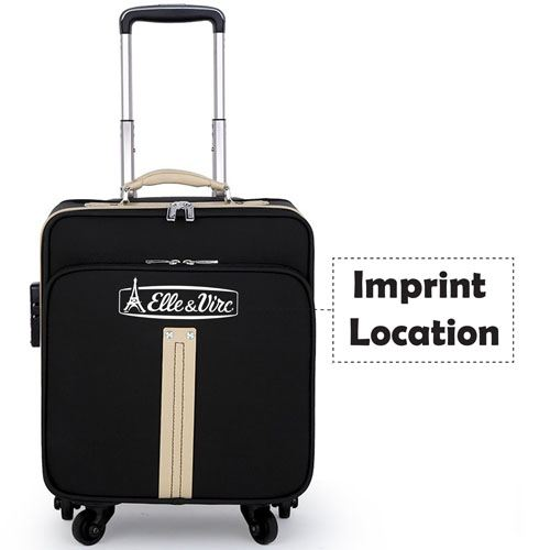 Trolley Luggage Spinner Computer Suitcase Imprint Image