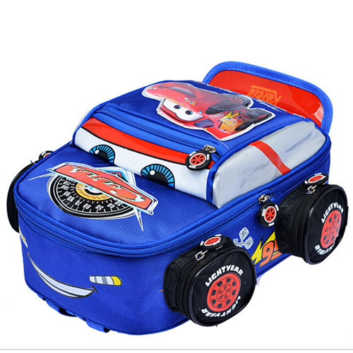3D Car Anti-Lost Backpack School Kids