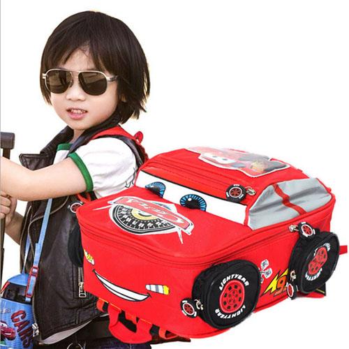 3D Car Anti-Lost Backpack School Kids Image 4