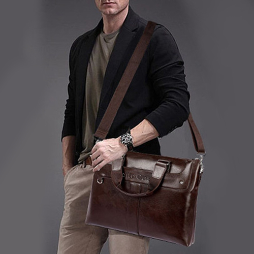 Premium Leather Briefcase Bag Image 4