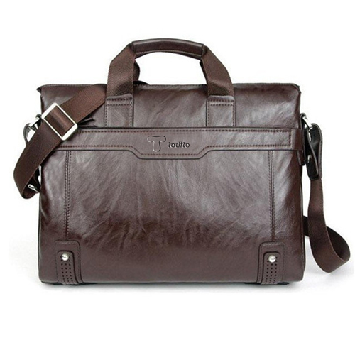 Leather Briefcase Men Bag