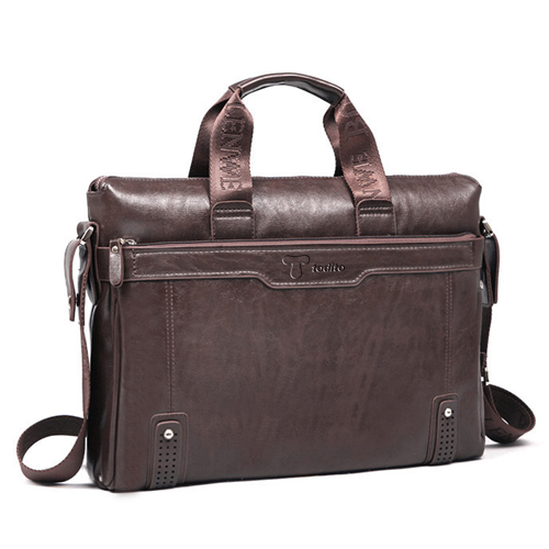 Leather Briefcase Men Bag Image 1