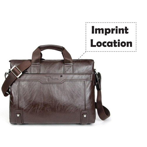Leather Briefcase Men Bag Imprint Image
