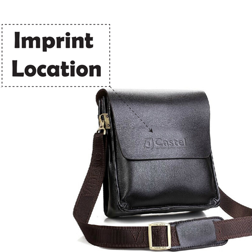 PU Leather Crossbody Business Bag for Man Imprint Image