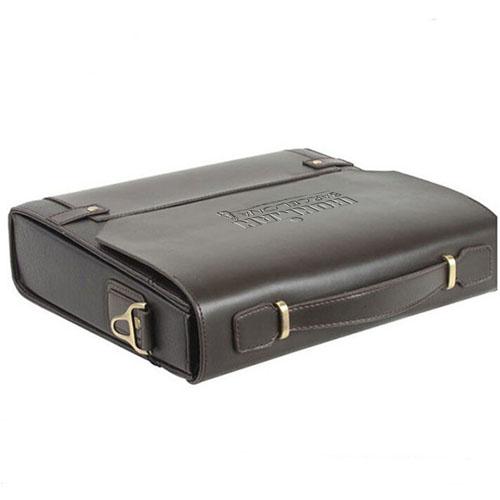 Business Folder Leather Messenger Bag Image 2