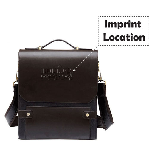 Business Folder Leather Messenger Bag Imprint Image