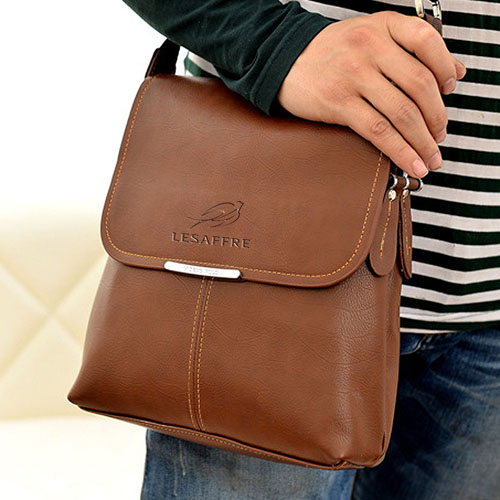 Briefcase Casual Leather Bag Image 4