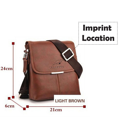 Briefcase Casual Leather Bag Imprint Image