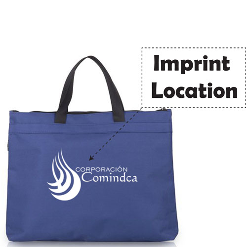 Fabric A4 Filing Products Zipper Bag Imprint Image
