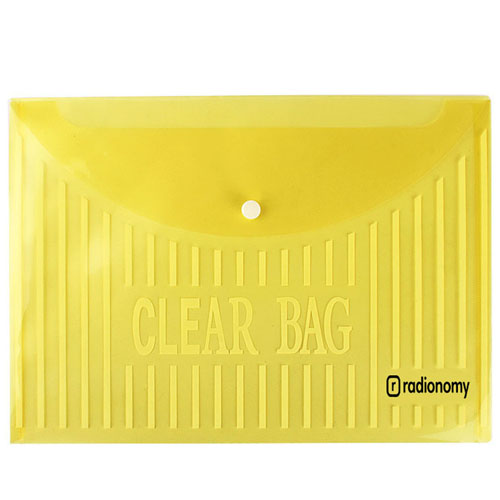 Transparent Plastic Button Paper Bags Image 1