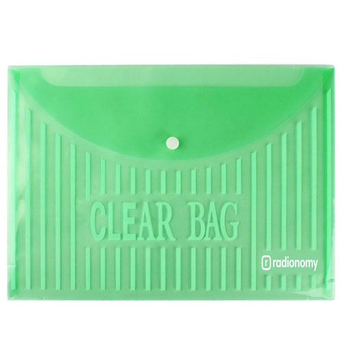 Transparent Plastic Button Paper Bags Image 3