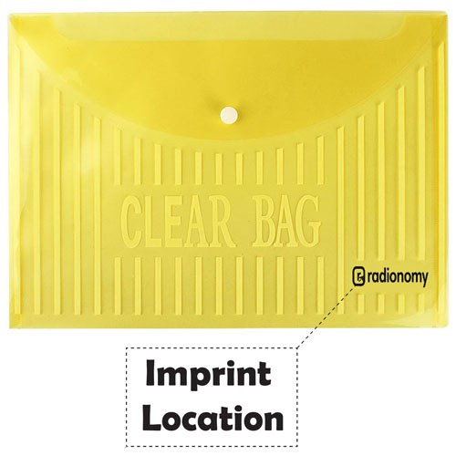 Transparent Plastic Button Paper Bags Imprint Image