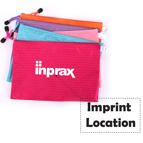 File Locking Stationery Zipper Bag Imprint Image