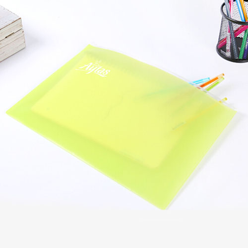 Transparent Book Pen Pencil Pouch Bag Image 1