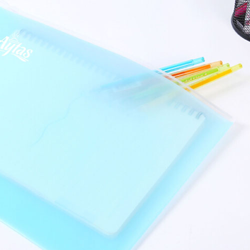 Transparent Book Pen Pencil Pouch Bag Image 4