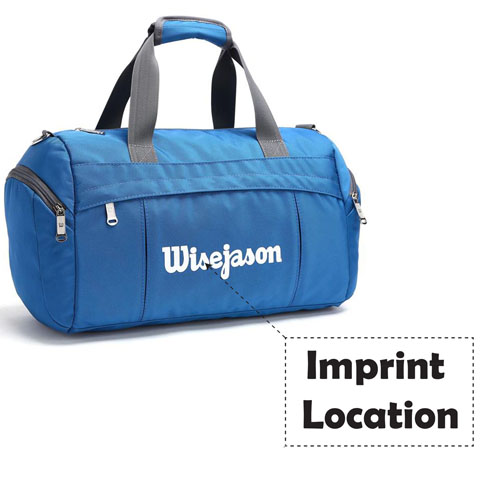 Canvas Waterproof Folding Travel Bag for Men and Women Imprint Image