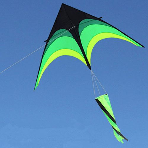 Umbrella Cloth Triangle Kite with Long Ribbon