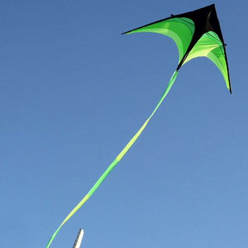 Umbrella Cloth Triangle Kite with Long Ribbon Image 1
