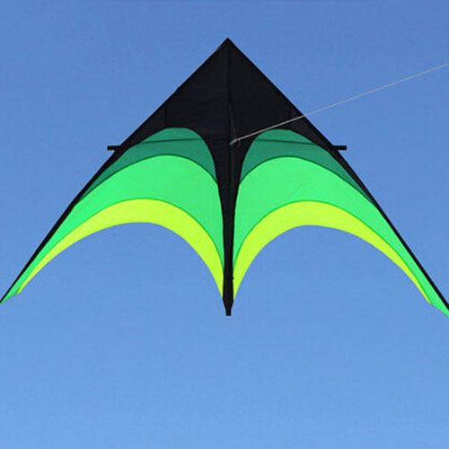 Umbrella Cloth Triangle Kite with Long Ribbon Image 2
