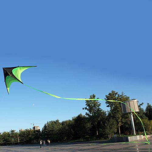 Umbrella Cloth Triangle Kite with Long Ribbon Image 5