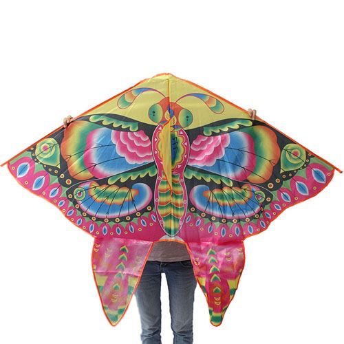 Foldable Colorful Butterfly Kite With Handle Image 5