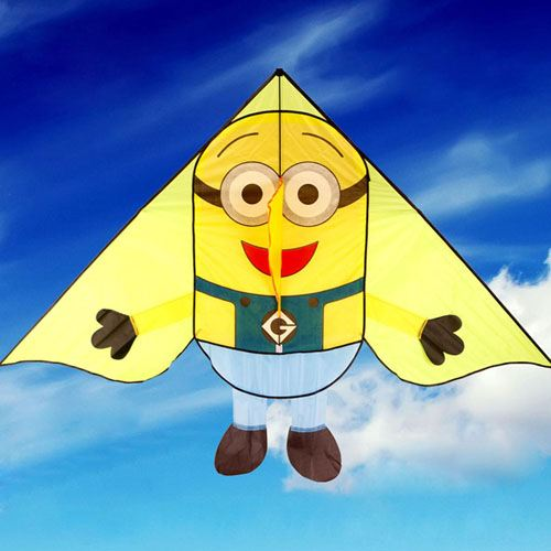 Minions Kite with Handle Line for Children