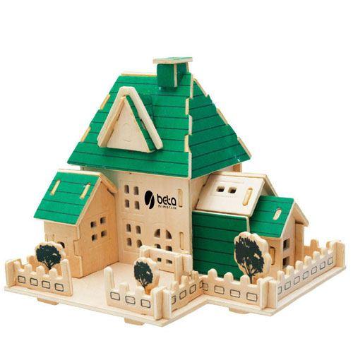 Construction 3D Wooden House Puzzle
