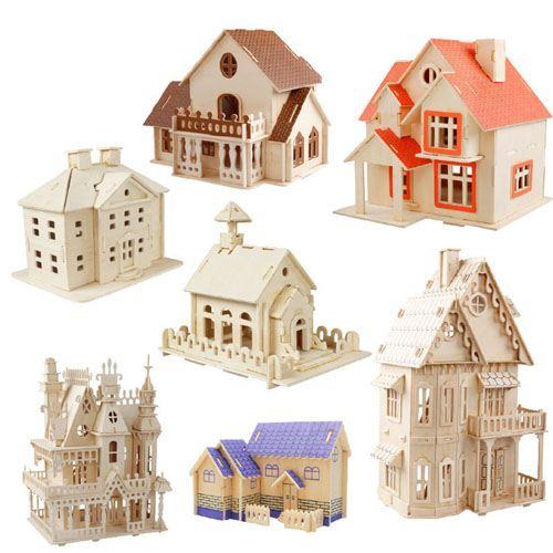 Construction 3D Wooden House Puzzle Image 2