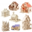 Construction 3D Wooden House Puzzle Image 2