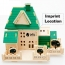 Construction 3D Wooden House Puzzle Imprint Image