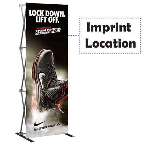 Hop Up 1X3 Tension Straight Fabric Display Imprint Image