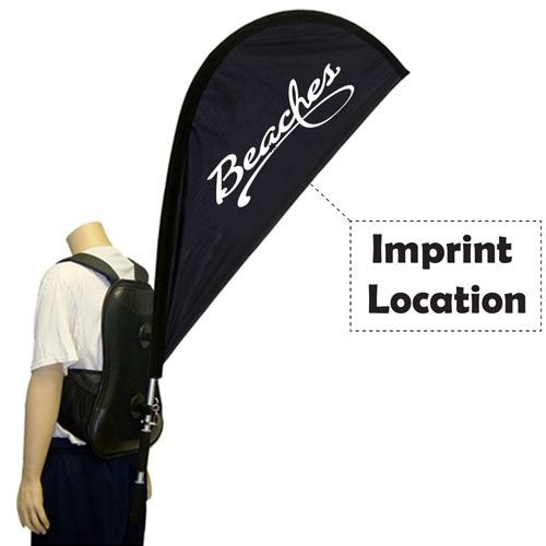 Marketing and Advertising Teardrop Backpack Banner Imprint Image