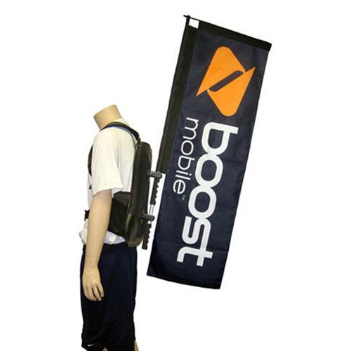 Promotional and Event Use Straight Walking Banner Image 1
