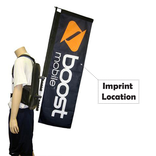 Promotional and Event Use Straight Walking Banner Imprint Image