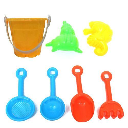 Sand Water Beach 7 Piece Bucket Toys