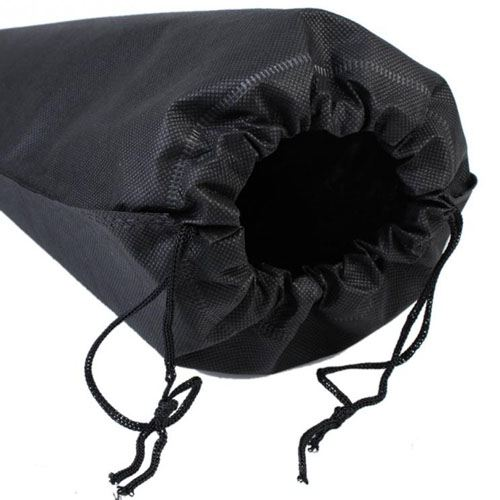 Fabric Travel Drawstring Closure Shoe Bag Image 4