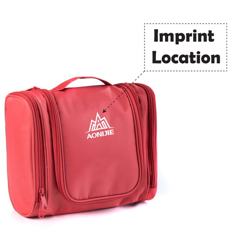 Travel Hanging Large Capacity Toiletry Bag Imprint Image