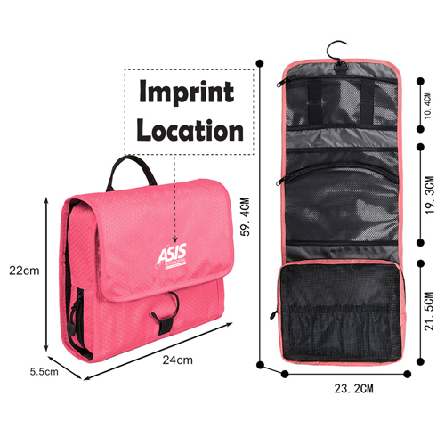 Waterproof Travel Toiletry Makeup Bag Imprint Image